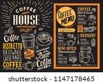 coffee restaurant menu. vector... | Shutterstock .eps vector #1147178465