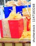 big gift boxes | Shutterstock . vector #1147183268