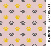 vector seamless pattern with... | Shutterstock .eps vector #1147183355