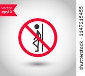 forbidden lean icon. do not... | Shutterstock .eps vector #1147215455