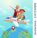 summer journey  travel concept. ... | Shutterstock .eps vector #1147232858