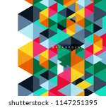 multicolored triangles abstract ... | Shutterstock .eps vector #1147251395