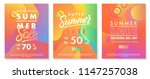 summer sale banners with bright ... | Shutterstock .eps vector #1147257038
