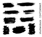 brush strokes set hand drawn... | Shutterstock .eps vector #1147260665