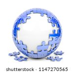 spherical puzzle with missing... | Shutterstock . vector #1147270565