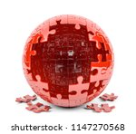 spherical puzzle with missing... | Shutterstock . vector #1147270568