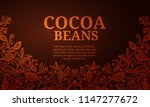 cacao beans plant  vector... | Shutterstock .eps vector #1147277672