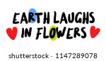 earth laughs in flowers...   Shutterstock . vector #1147289078