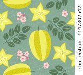 star fruit seamless pattern.... | Shutterstock .eps vector #1147302542