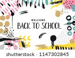 trendy vector colorful pattern... | Shutterstock .eps vector #1147302845