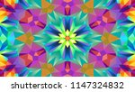 abstract colorful symmetric... | Shutterstock . vector #1147324832