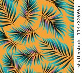palm. pattern from tropical... | Shutterstock .eps vector #1147326965