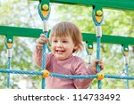 two year child at playground... | Shutterstock . vector #114733492