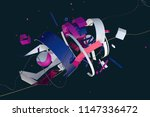 abstract stylish 3d composition ... | Shutterstock . vector #1147336472