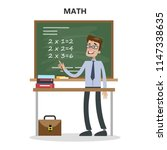 isolated math teacher with... | Shutterstock . vector #1147338635
