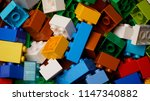 close up colorful plastic... | Shutterstock . vector #1147340882
