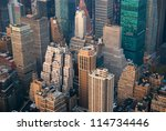 new york city manhattan skyline ...   Shutterstock . vector #114734446