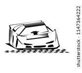 late model race car vector logo ... | Shutterstock .eps vector #1147364222