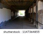 Walkway Under An Old Railroad...