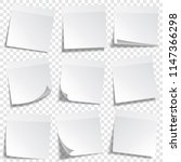 sticky paper note with tape and ... | Shutterstock .eps vector #1147366298