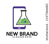 phone with biology laps logo... | Shutterstock .eps vector #1147366682
