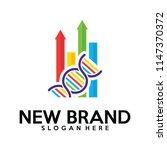 biology stats logo vector ... | Shutterstock .eps vector #1147370372