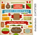 set of vector christmas ribbons ... | Shutterstock .eps vector #114737305