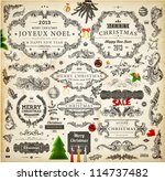 christmas decoration collection ... | Shutterstock .eps vector #114737482