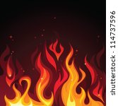 hot burning blazing fire flames ... | Shutterstock .eps vector #114737596