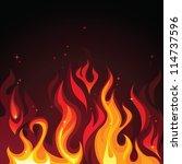 Hot Burning Blazing Fire Flame...
