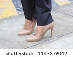 model on the street   Shutterstock . vector #1147379042