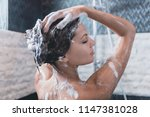 relief and relaxation after... | Shutterstock . vector #1147381028