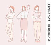 confident poses of business... | Shutterstock .eps vector #1147395365