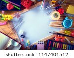 education  back to school... | Shutterstock . vector #1147401512