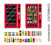 empty and full vending machine... | Shutterstock .eps vector #1147408415