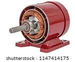 disassembled of electric motor  ... | Shutterstock . vector #1147414175