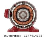 disassembled of electric motor  ... | Shutterstock . vector #1147414178