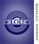 lol  emblem with jean background | Shutterstock .eps vector #1147414538