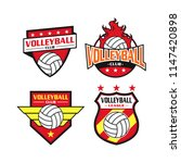 volleyball logo set with badge... | Shutterstock .eps vector #1147420898