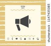speaker  bullhorn icon | Shutterstock .eps vector #1147435385