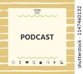 podcast   icon for web and... | Shutterstock .eps vector #1147460132