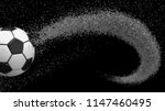 soccer ball with spiral water... | Shutterstock . vector #1147460495