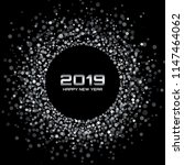 new year 2019 card background.... | Shutterstock .eps vector #1147464062