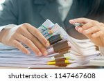 accounting planning budget... | Shutterstock . vector #1147467608