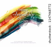 abstract happy friendship day... | Shutterstock .eps vector #1147468772