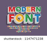 vector colorful 3d letters for... | Shutterstock .eps vector #1147471238
