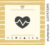heart medical icon   Shutterstock .eps vector #1147473395