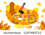 vector illustration   bicycle... | Shutterstock .eps vector #1147483712