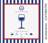 wineglass symbol icon | Shutterstock .eps vector #1147484705