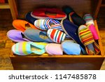 display of colorful traditional ... | Shutterstock . vector #1147485878